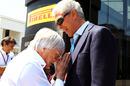 Bernie Ecclestone heaps praise on the Pirelli president Marco Tronchetti Provera