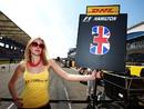 Lewis Hamilton's grid girl