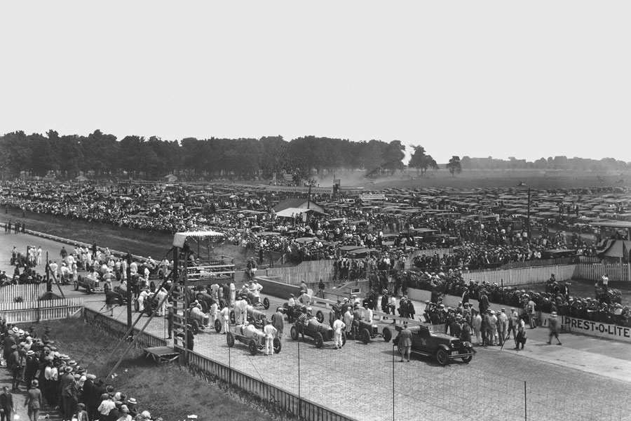 The start of the Indy 500