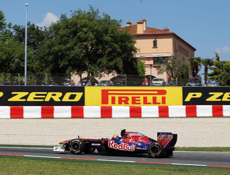 Jaime Alguersuari on a run on hard tyres in the afternoon